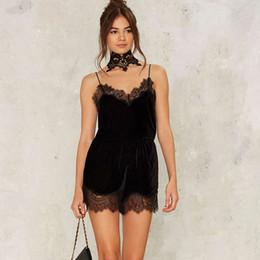 Black Lace Short Jumpsuit Online   Black Lace Short Jumpsuit for Sale