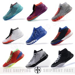 online shopping Irving one boots Red Christmas Men Basketball Shoes Kyrie Running Shoes Gray Red Orange Green Yellow Kyrie sneakers