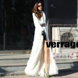 Discount White Artificial Fur Coats | 2017 White Artificial Fur ...
