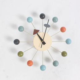 wholesale 2016 popular designer beautiful modern luxury home decorative diy wooden balls wall clocks - Designer Wall Clocks Online