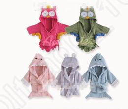 2017 baby boy wrap Kids Animal Bathrobe Toddler Girl Boy Baby Cartoon Pattern Towel Hooded Bath Towel Terry Wrap Bath Robes 18 styles OOA758 300pcs cheap baby boy wrap