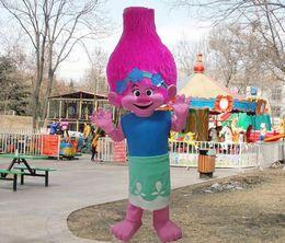 Ramo do vestido de fantasia do traje da mascote do filme de Dreamworks TROLLS BRAND NEW LLFA