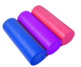 Discount home gym exercises Wholesale-New Hot Sale High Quality EVA Foam Roller Yoga Pilates Exercise Back Home Gym Massage 30x15 cm