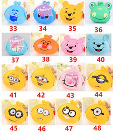 2017 cats dogs Despicable Me Kt cat Dog Smile Face cartoon cute purse silicone coin bag new creative kids' mini wallet Money Bag Pouch Bank Case cheap cats dogs