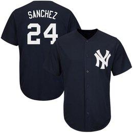 2017 baseball jerseys fashion men Men's New York Yankees Derek Jeter 2# Gary Sanchez 24# Majestic Fashion Navy Cool Base Player Stitched Embroidery Logos Baseball Jerseys cheap baseball jerseys fashion men