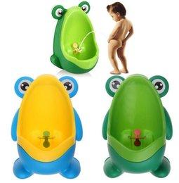 Kids PP Rana Potty Toilet Training Niños Urinario para Niños Pee Trainer Cuarto de baño de entrenamiento de pared KKA1482