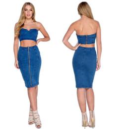 Denim Top Skirt Online | Girls Denim Skirt Top for Sale