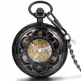 wind up pocket watches online mechanical wind up pocket watches online shopping new vine steampunk r dial mechanical skeleton steel mens black wind up pocket watch