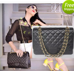 online shopping 33CM JUMBO MAXI XXL Real Leather Lambskin Shoulder Bag Handbag Le Boy Chain Bag Flap Bag