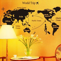 Qt 0033 Diy Wall Sticker To Travel Around The World All Match Style Wallpapers Art Mural Waterproof Wall Stickers Home Decor