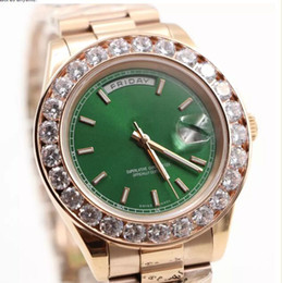 rose gold mens diamond watches online rose gold mens diamond online shopping luxury brand watch men day date automatic movement aaa sapphire diamonds watch green face