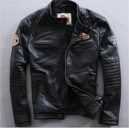 Discount Mens High Collar Leather Jackets | 2017 Mens High Collar