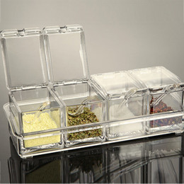 kitchen containers for sale  pcs set clear acrylic seasoning rack spice pots seasoning storage box container condiment jars kitchen accessories