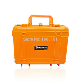 Wholesale- Waterproof Hard Case with foam for Camera Video Equipment Carrying Case Black Orange ABS Plastic Sealed Safety Portable Tool Box