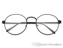 korean glasses frame retro full rim gold eyeglass frame vintage spectacles round computer glasses unisex no degrees vintage gold frame glasses round outlet