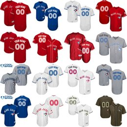 online shopping Men s Custom Toronto Blue Jays Baseball Jersey Flexbase Collection For Sale stitched size S XL