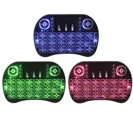 Rii I8 2.4GHz inalámbrico Mouse Gaming Teclados Blanco Backlight multicolor retroiluminado de control remoto para S905X S912 TV Android Box T95 X96