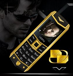 Discount mp3 for free DHL Free High quality Unlocked Fashion luxury mobile phone for man Dual sim card leather metal frame stainless steel cell phone free case