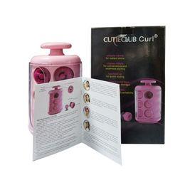 CUTIECLUB Curl стручки YDT500 завивки волос Спиральные бигуди Curling Iron Wand салон быстро укладки волос Инструменты Розовый Электронные завивки DHL Towoto