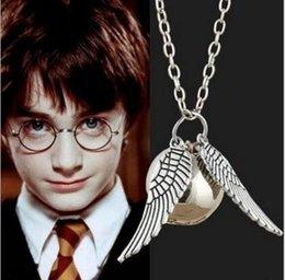 Harry Potter Colliers Pendentif en or Pendentif Pendentif en ange Pendentif en forme d'aile Pendentif pour homme Collier de quidditch