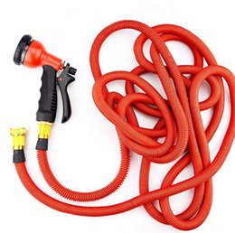 2017 25ft hose spray NEW Expandable Garden Hose 25ft 50ft 75ft 100ft With Brass Connectors 8 Pattern Spray Nozzle Head And High Pressure Expanding Garden Hose cheap 25ft hose spray