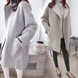 Korean Dark Grey Wool Coats Online | Korean Dark Grey Wool Coats