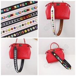 Bolsa de repuesto de la correa de cuero PU Python piel reemplazo bolsa de mano correa de hombro de colores que 5 diseños LJJO871