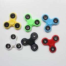 2017 6 colores mano spinner fidget metal bola rodamientos EDC escritorio juguete aliviador diversión juguete para descompresión ansiedad dedo spinner juguetes