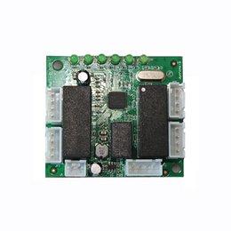 Ethernet Switch 6 portas Pcb Board rede switch Fabricante Aceitar Oem ODM mini switch pcb módulo 10 / 100Mbps dados de transferência automática