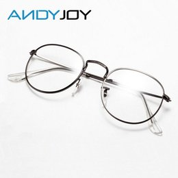 wholesale andyjoy vintage metal eyeglasses frame women brand designer round optical glasses fashion plain mirror eyewear oculos de grau cheap designer