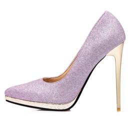 Discount Gold Glitter Platform High Heels   2017 Gold Glitter ...