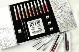 Kit Kylie Holiday Big Box Collection Matte Kylie Jenner Collection Lipgloss liquide Kyshadow Set pour Noël