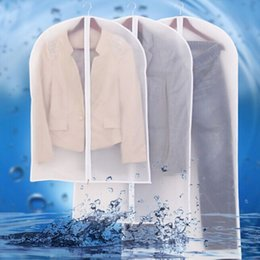 Pano Cobertura à Prova de Pó Garment Organizer Terno Vestido Casaco Roupa Protetor Bolsa Bolsa De Viagem Com Zipper Atacado LLFA