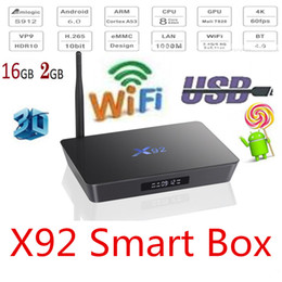 Android 6.0 TV BOX X92 Amlogic S912 Octa-core 2GB16GB 2.4G / 5G double wifi Bluetooth H.265 4k media player