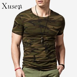 Wholesale Vente en gros Camouflage Men s T Shirt Summer New Fashion Casual à manches courtes en coton Tee Shirts Tops masculins Camo Print Tshirt homme