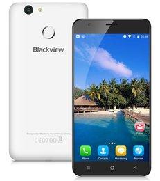 Discount dual sim e7 phone Original Blackview E7 4G LTE Unlcok Cell Phone MTK6737 Quad Core 1GB 16GB 8MP 5.5 Inch 1280x720 Android 6.0 Fingerprint ID