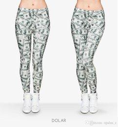 Wholesale 2017 Leggings de la manera de la impresión de la manera para las mujeres Polyester libre Leggins suaves pantalones leggings florales de la yoga para el gym de las mujeres Modelo de Dolar