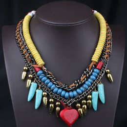 Natural stone necklace designs online natural stone for Wind chain online