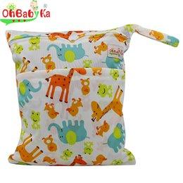 Wholesale Vente en gros OhBabyka Wet Sac Nappy Cover Tissu Diaper Mummy Sac Swim Diaper Backpack Imprimer Personnage Reutilisable Baby Tissu Sac à couches