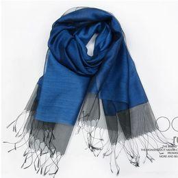 wholesale 2016 sale solid adult fashion women cotton foulard women new double hit color fringed silk scarf scarves shawl wholesale ladies - Foulard Color