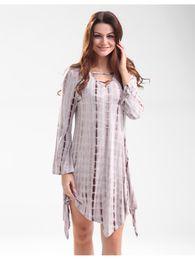 Long sleeved tie dye dress