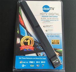 25PCS despejan el diseño delgado liso de la antena interior digital de la TV de la TV de la TV de la TV de la TV ocultada detrás de la TV Consiga la TV de la difusión para libre