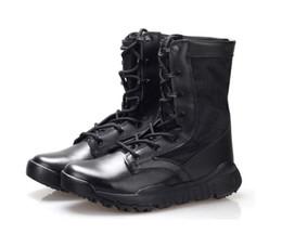 Wholesale Haute qualité ultra léger tactile respirant bottes Mens Police armée de combat bottes US Army chaussures désert noir taille