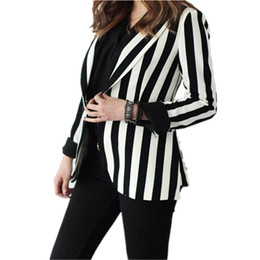 Black White Striped Blazer Women Online | Black White Striped ...