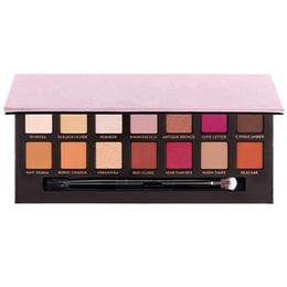 Renaissance Pink Eye Shadow Palette 14 couleurs Kit de maquillage des yeux avec brosse limitée DHLL Livraison gratuite