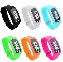 Podomètre pédomètre bonbon couleur intelligent sport tracker silicone santé bracelet sport running podomètre mode LED écran tactile