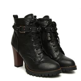 Discount High Heel Combat Boots Women | 2017 High Heel Combat ...