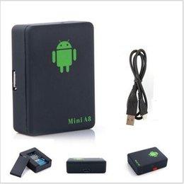 Mini A8 2016 Mais novo GPRS Tracker Localizador de carro em tempo real Kids Pet GSM / GPRS / LBS Tracking Power adaptador de alta qualidade GPS tracker