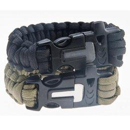 Outdoor Gear Survival Bracelets avec Flint et coton Aventure Aventure Nylon Rope Survival Lifesaving avec Siuation d'urgence Facile à transporter