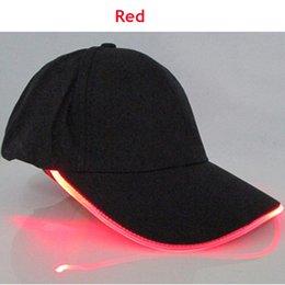 2017 nuevos deportes del recorrido de los hombres de los deportes de los hombres LED resplandecen los casquillos de béisbol Nuevos deportes calientes del partido del club de la manera del partido fresco caliente del club Noctilucent Flash Hat